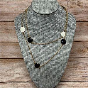 Kate Spade SPECTATOR Black/White Scatter Necklace